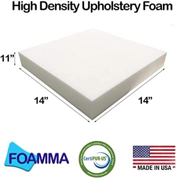 Upholstery Cushion Foam Made for Body Comfort Firm Density FoamLove 1 H x 24 W x 24 L Made in The USA Designed for Heavy Traffic and High Use Applications 4PK
