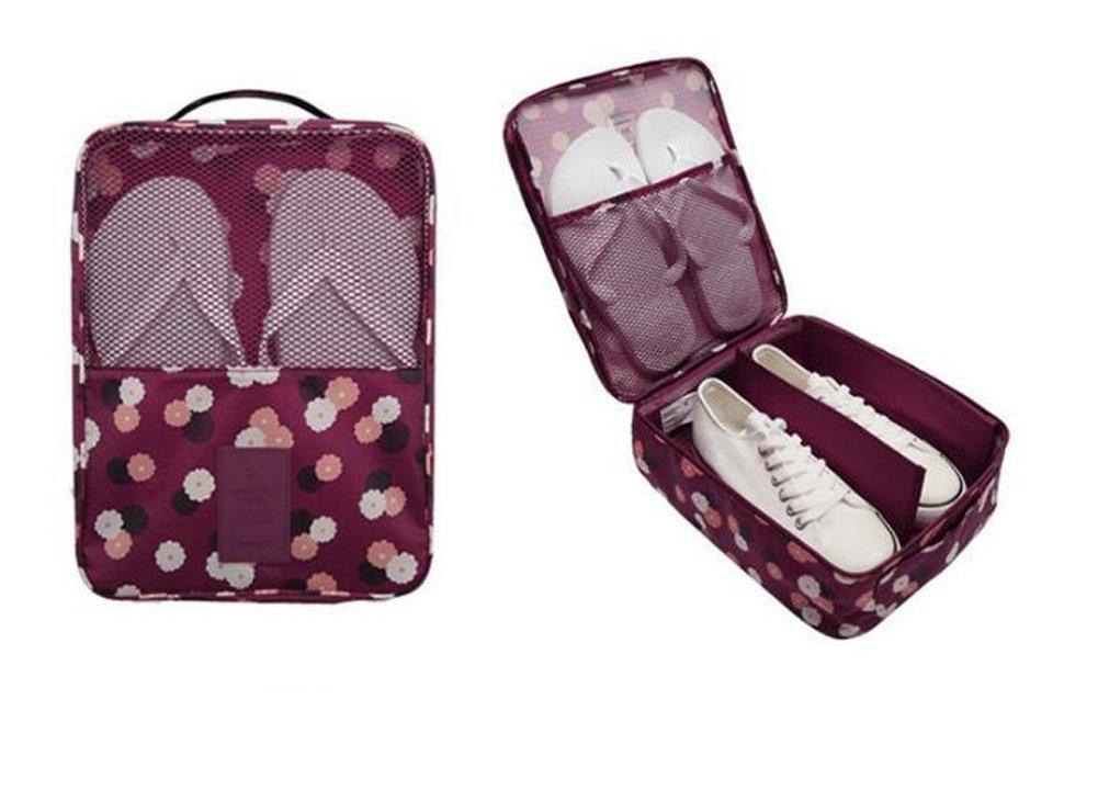 1PC Fashion Travel Portable Shoe Bags Multicolor Storage Organizer Bag for Men Women (Purple)