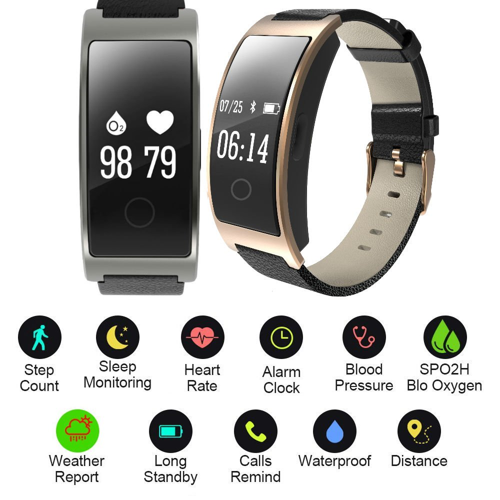Hangang Fitness Tracker Smart Bracelet Sport tracker Activity Wristband Intelligent Watch health Tracker Heart Rate Blood Pressure Oxygen Monitor For IOS And Android Phone Business Type CK11S (black) by Hangang