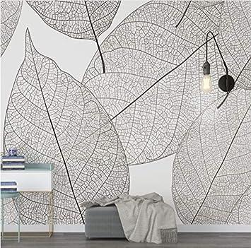 Wh Porp Papel Tapiz Minimalista Moderno Venas De Hojas Textura