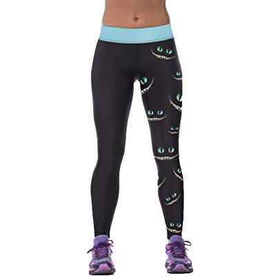 NOKMY Womens Stretchable Yoga Pants QuickDry Trousers Workout Leggings Digital Printed