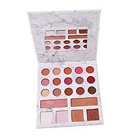 Elistelle 21 Farben Makeup Palette Bunt Profi Augenpalette und Matt Glitzer Lidschatten Highlighter Rouge Bronze