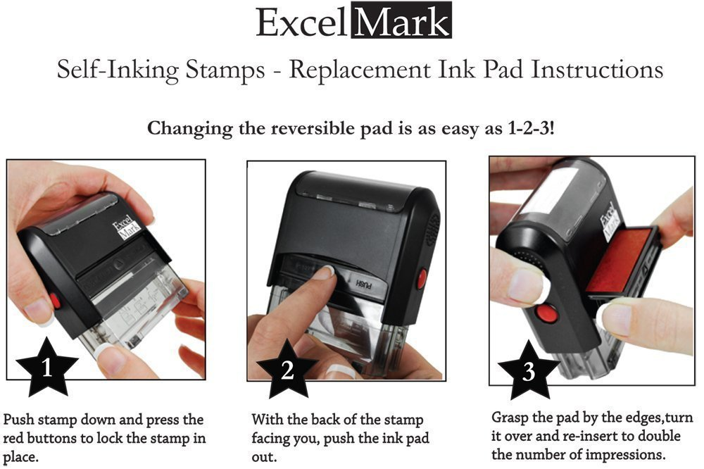 Amazon POSTED Self Inking Rubber Stamp