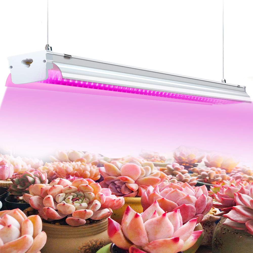 4ft LED Grow Light Fixture 64W Red Bloom Dedicated Spectrum Grow Lamp Bulb T15 Integrated Fixture for Indoor Plants, Green House Plant, Hydroponic, Seedling, Succulents, Veg and Flower, HID/CFL/HPS by YKUNLED
