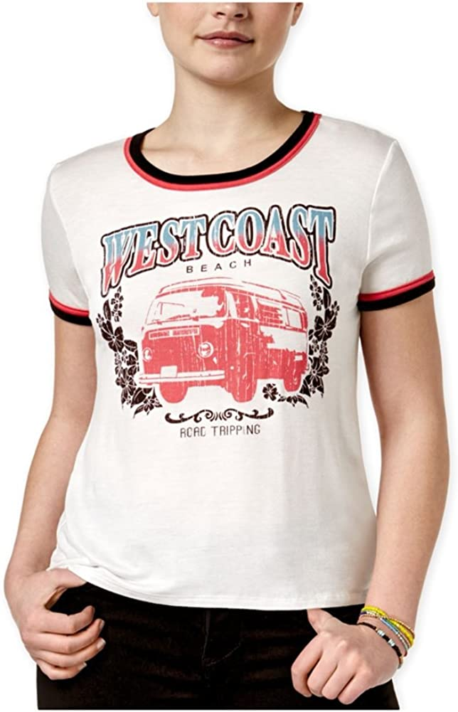 B01M7Q0GDC Rebellious One Womens West Coast Ringer Graphic T-Shirt 61WAYQYfKQL