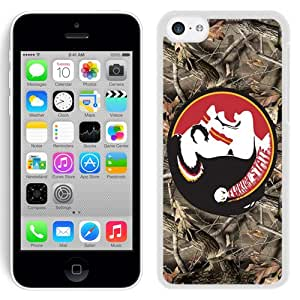Beautiful Designed With NCAA Atlantic Coast Conference ACC Footballl Florida State Seminoles 3 Protective Cell Phone Hardshell Cover Case For iPhone 5C Phone Case White