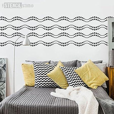 Cirque Stencil Reusable Circles Design Border Wall Stencil