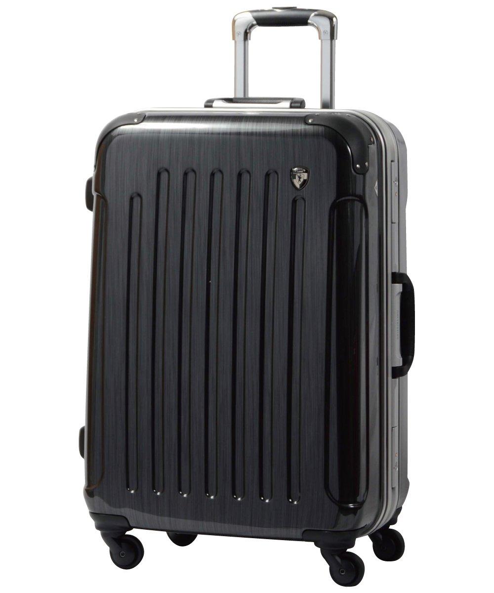 [グリフィンランド]_Griffinland TSAロック搭載 スーツケース 軽量 アルミフレーム ミラー加工 newPC7000 フレーム開閉式 B078JR25DK LM型+【名前刻印】|スクラッチガンメタリック スクラッチガンメタリック LM型+【名前刻印】