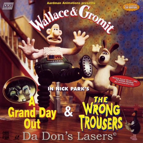 Wallace and Gromit A Grand Day Out & The Wrong Trousers laserdisc