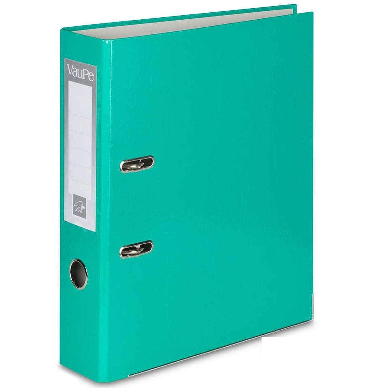 portadas de papel con borde de metal 5/o 10/unidades Carpetas archivadoras tipo palanca en arco tama/ño A4 para el colegio o la oficina 75 mm de grosor color 5 x Vanilla lotes de 1