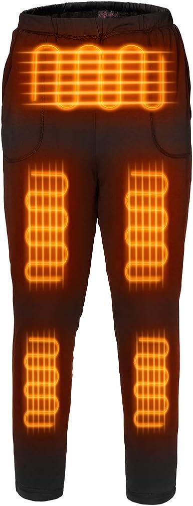 Amazon Com Fernida Pantalones Termicos Electricos Termicos Con Aislamiento Lavable Con Calefaccion Bateria Incluida Clothing