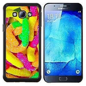 TECHCASE---Cubierta de la caja de protección para la piel dura ** Samsung Galaxy A8 ( A8000 ) ** --Caramelo de goma coloridos dulces de azúcar de neón