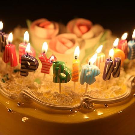 Feliz cumpleaños velas - velas de Navidad Lovely Inglés ...