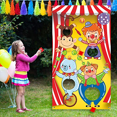 Carnival Toss Games with 3 Bean Bag, Fun Carnival Game for Kids and Adults in Carnival Party Activities, Great Carnival Decorations and Suppliers (Circus -