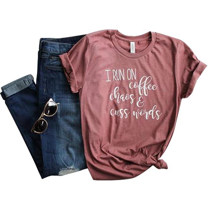Amazon.com: NewCime - Camiseta de manga corta para mujer ...