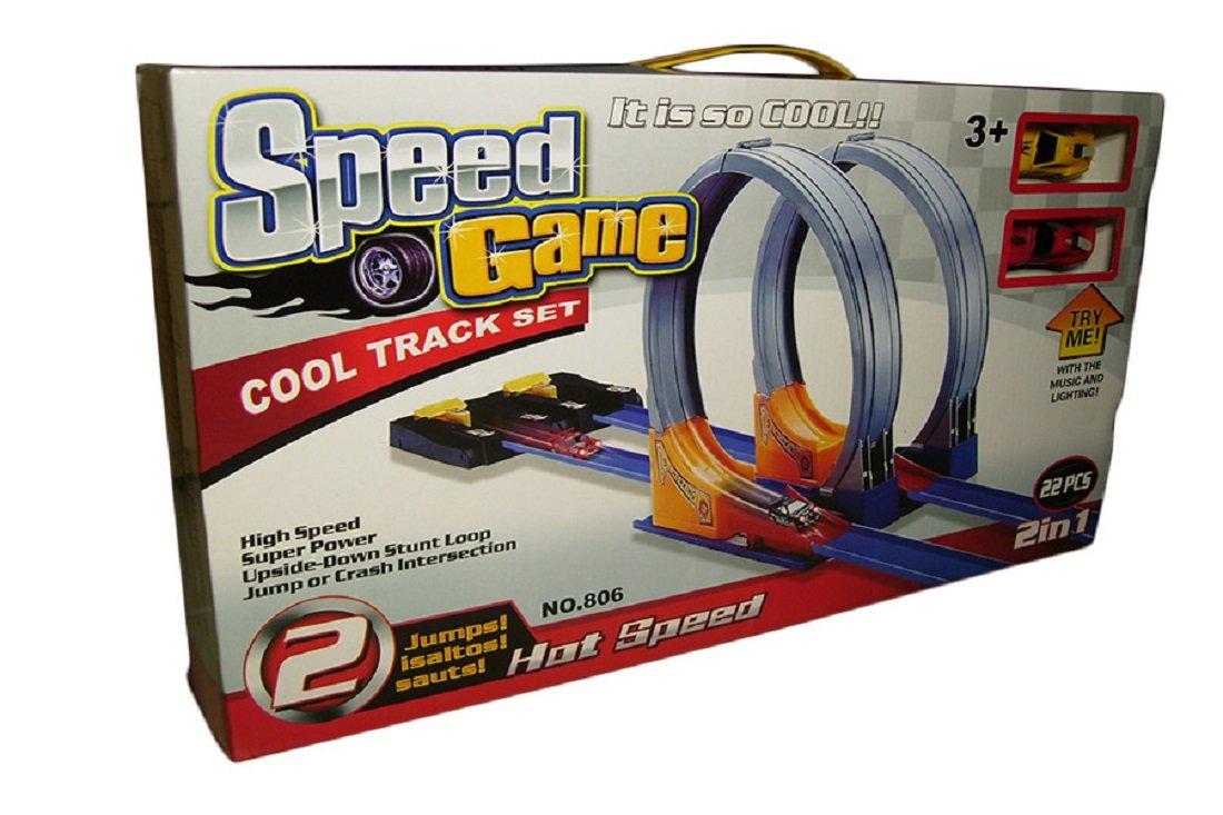 Hot Speed Cars Cool Track Set 22Pcs