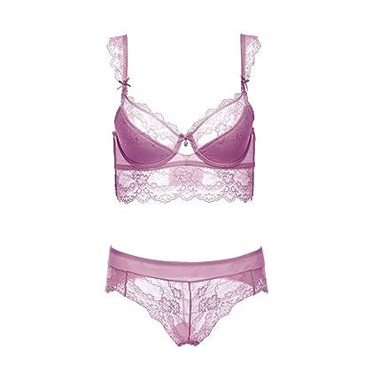 c450866d63 Varsbaby Women s Push up Embroidery Bras Set Lace Lingerie Bra Panties(V001SP
