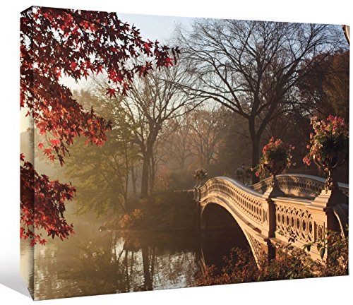 JP London LCNV2206 Central Park Forest Pond Bridge in Autumn 2