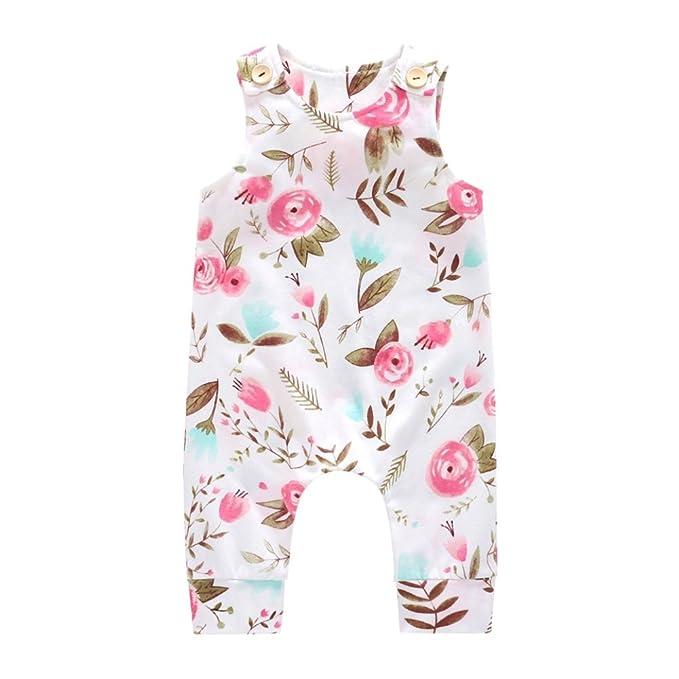 067af7792123 Hongyuangl Jumpsuit for 8-36 Months Baby Boy Print Romper Summer ...