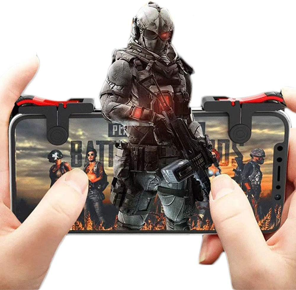 Phone Controller Gamepad with L1R1 Trigger for Shooter Sensitive and Aim Trigger Physical Assistance Controller Kensd Mechanical Buttons Physical Assistance PUBG Mobile Game Controller