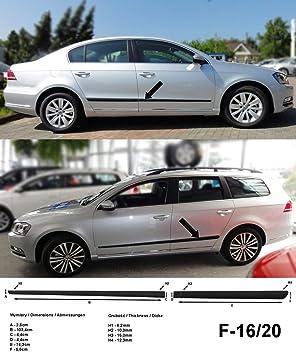 Spangenberg Listones de protección Lateral, Color Negro, para Volkswagen Passat B7 Variant Combi y