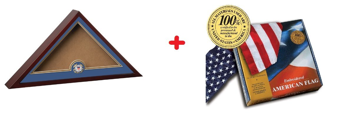 Springbok: Shadowbox Coast Guard with United States Flag Bundle