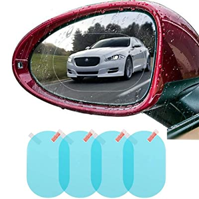 4 PCS Car Rear View Mirror Waterproof Film Side Rearview Rainproof Coating Membrane HD Nano Protective Clear Safe Driving Sticker: Automotive