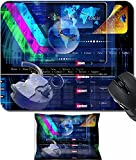 MSD Mouse Wrist Rest and Small Mousepad Set, 2pc Wrist Support design 19834396 Internet Network website Safety