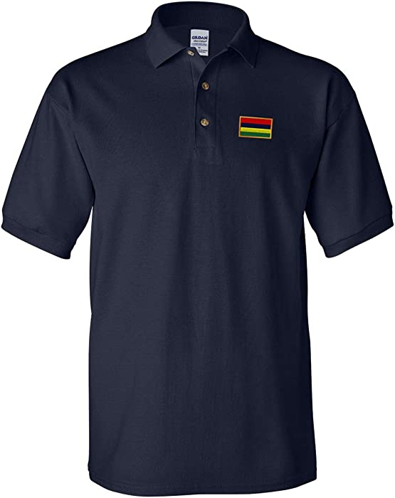 86ec4db3 Speedy Pros Polo Shirt Mauritius Embroidery Country Name Cotton Golf Shirt  for Men - Navy,