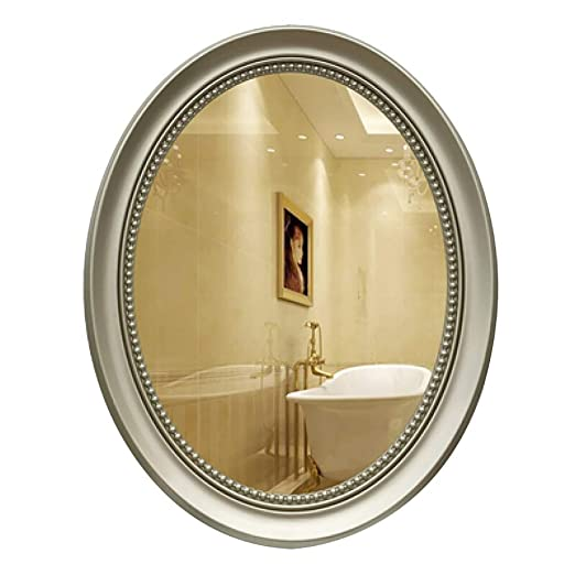 Sdk Espejos de vanidad de Pared Oval Retro Frame Espejo de baño ...