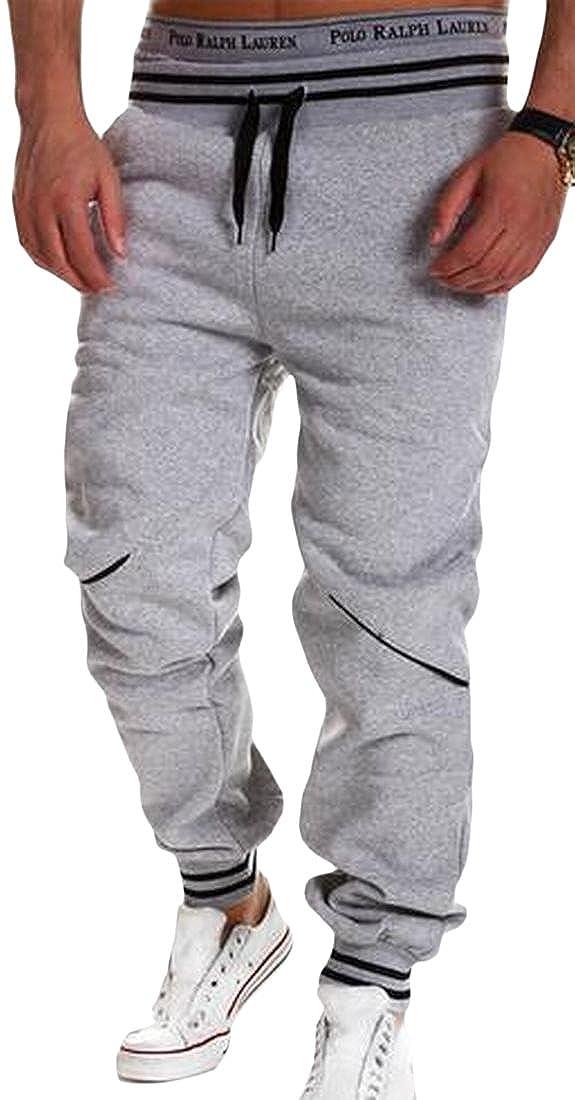 Honey GD Mens Sport Pants Outdoor Loose Elastic Waist Active Pants
