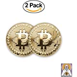 Bitcoin Gold Coin (2 Pcs) | BTC Coin Gold Collectible (Bitcoin)