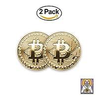 Bitcoin Gold Coin (2 Pcs) | BTC Coin Gold Collectible (Bitcoin)