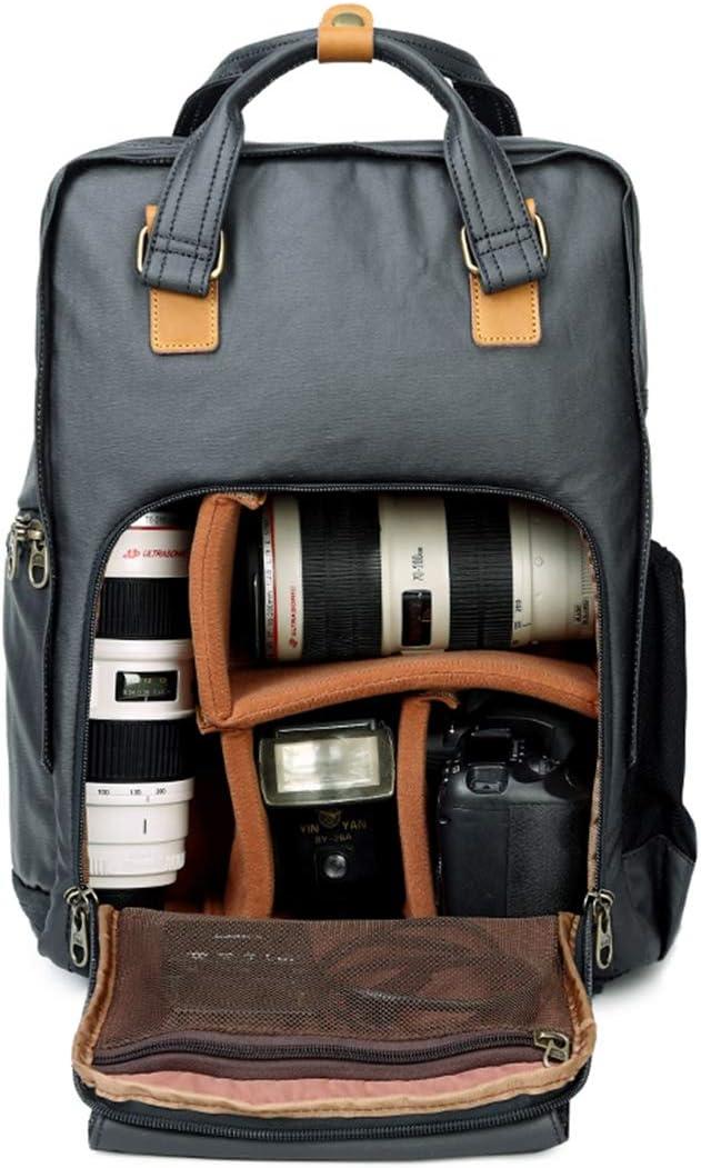 LcBag Camera Bag Professional Retro Fashion Casual Waterproof Canvas Camera Tripod Bag Photography Computer Travel Bag,Blue