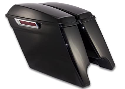 Covers & Ornamental Mouldings Cheap Sale Motorcycle Abs Side Cover Panel For Harley Touring Street Glide Touring Flt Flh 2009-2018 Vivid Black