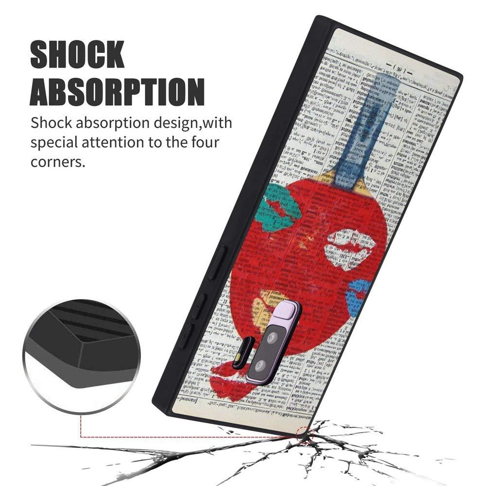 Amazon.com: Table Tennis Racquet Samsung Galaxy S9 Plus Case, Soft Flexible TPU Back Cover Rectangle Case Compatible with Samsung Galaxy S9 Plus (Black): ...