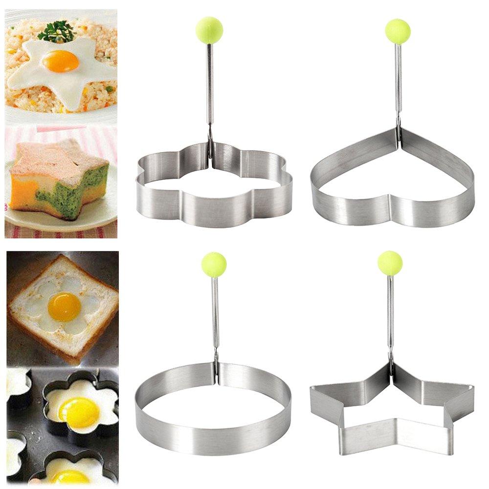 Amazon.com: windyus molde de huevo frito, 4 pcs anillos de ...