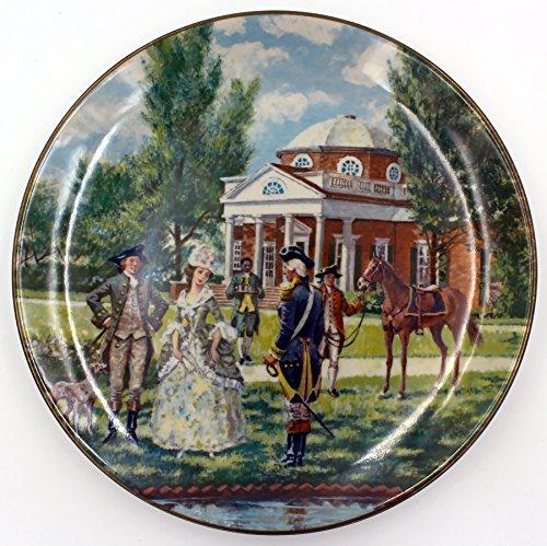 (American Commemorative Council Southern Landmark Series Monticello Decorative Plate )