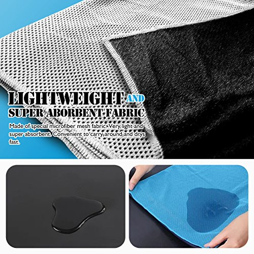 Cooling Towel, E LV Set of 2 Personal Cooling Towels Reusable Sweat Absorbent Towel for Instant Releaf super soft Breathable For Workout, Fitness, Running & Other Sports