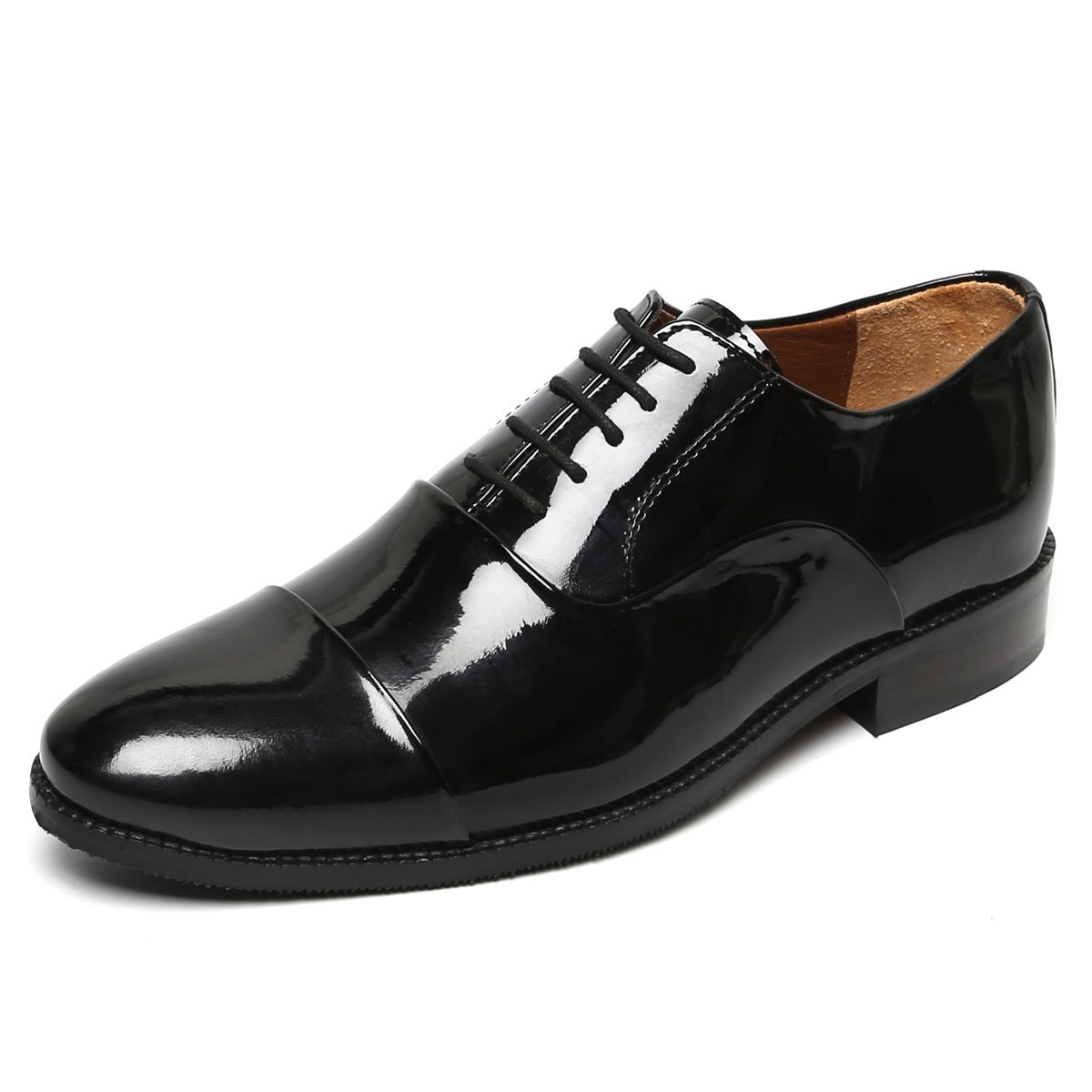 Black Color Painted Leather Formal Shoe