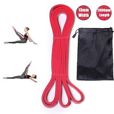 DoGeek Bandes de Résistance élastique Fitness Ballet bande elastique pour Musculation Pilates Yoga Squat Sport Rééducation Physique et Motrice pour Homme/Femme