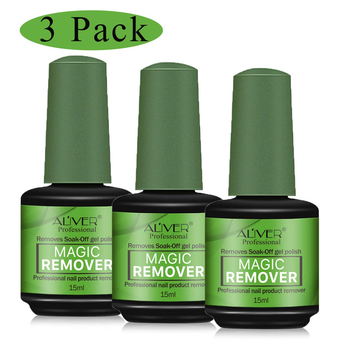 3 Pack Nail Polish Remover, Easily & Quickly Removes Soak-Off Gel Polish, Professional Non-Irritating Nail Polish Remover, 2-3 Minutes Easily & Quickly Don't Hurt Your Nails (3 Pack) by ZZLM
