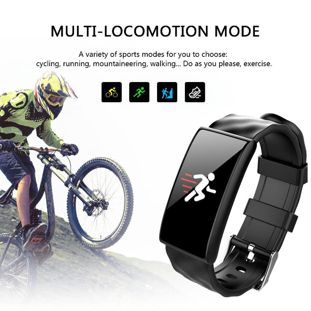 Amazon.com: KOBWA Fitness Tracker Watch|Sleep Monitor|0.96inch OLED ...