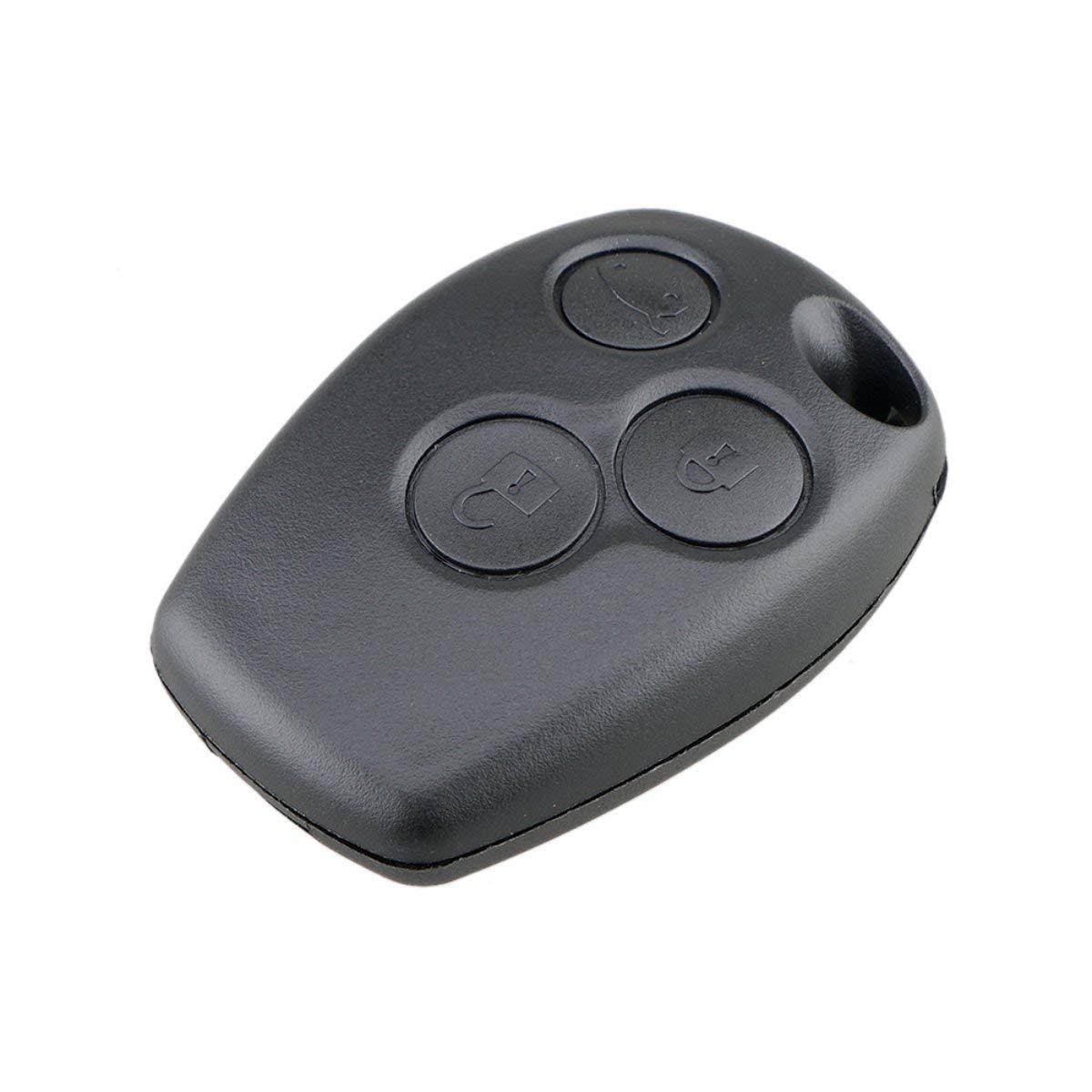 Gugutogo Estuche de 3 Botones con Llave remota sin Cuchilla para Renault Logan Sandero Clio Fluence Vivaro Master Traffic