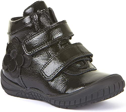 School Boots Black Patent Leather