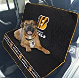 Pets First NFL CAR SEAT Cover – Cincinnati Bengals Waterproof, Non-Slip Best Football Licensed PET SEAT Cover for Dogs & Cats. For Sale