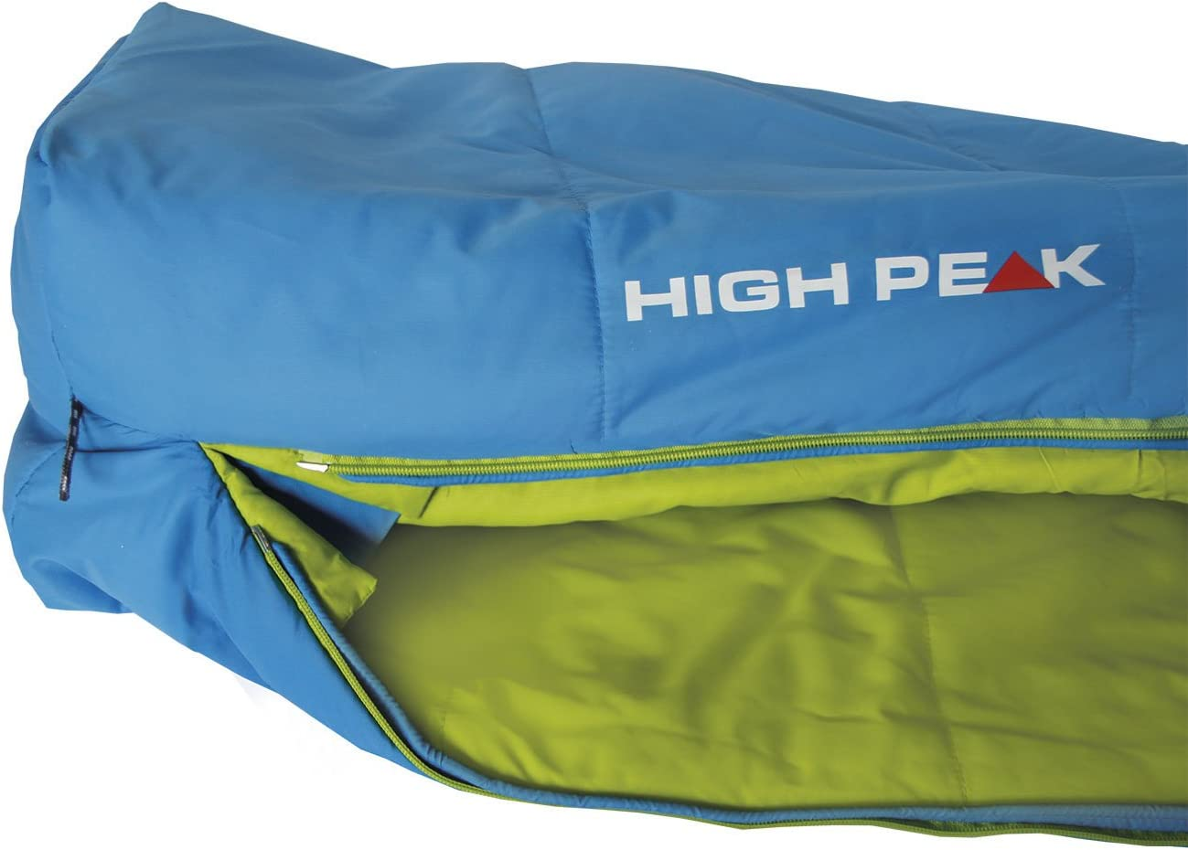 225 x 82//52 cm Bleu//Vert High Peak 23365 Sac de Couchage Mixte Adulte