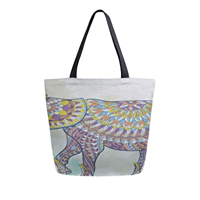 99a56e14eaf3 African Ethnice Tattoo Elephant Portable Large Double ... - Amazon.com