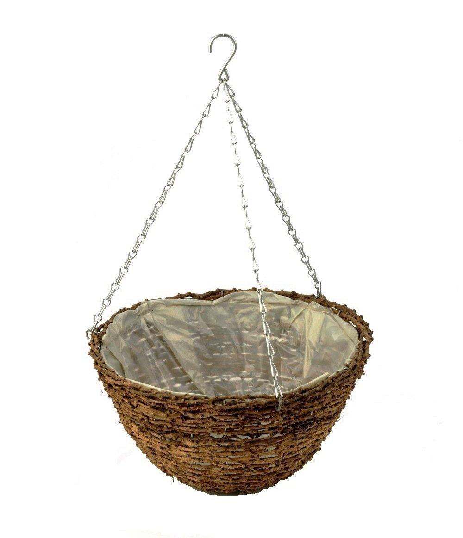 Apollo 12-inch Rattan Hanging Basket Apollo Gardening Ltd