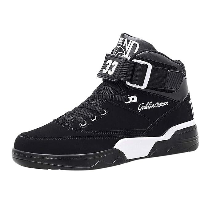 cc22c30e1f953 Amazon.com: Dainzuy High Top Sneaker for Men,Mens Athietic Lace Up ...